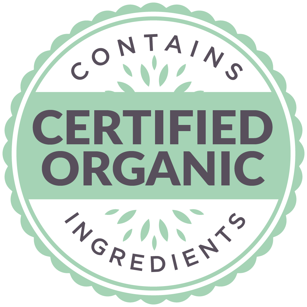 Contains Certified organic Ingredients Icon