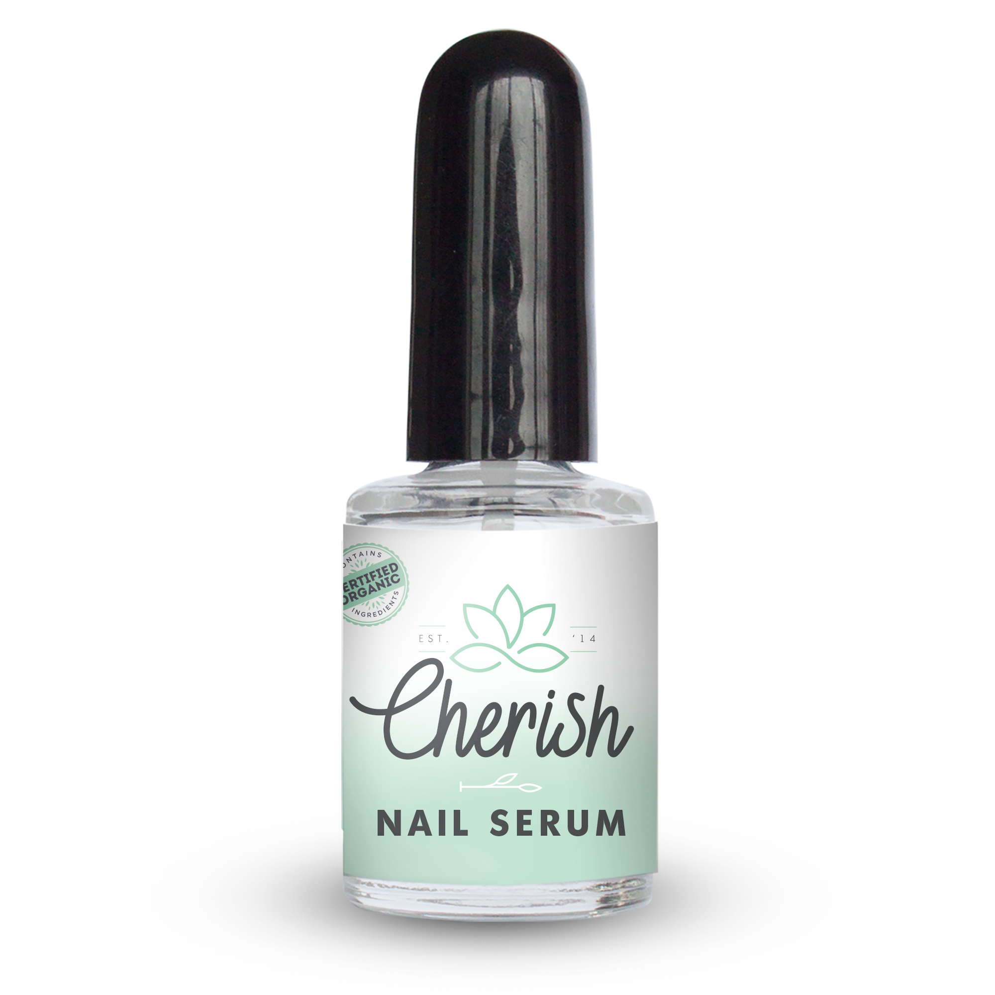 Natural nail & cuticle serum glass bottle 10ml