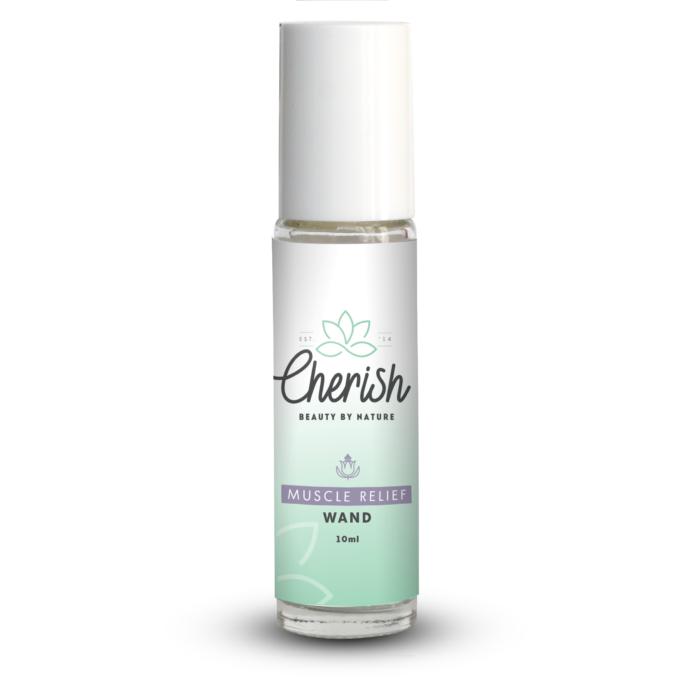 cherish beauty muscle relief aromatherapy roller 10ml glass wand