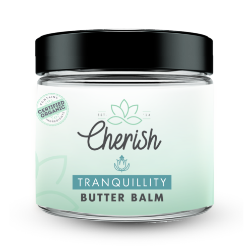 Cherish tranquillity butter balm 100ml glass jar