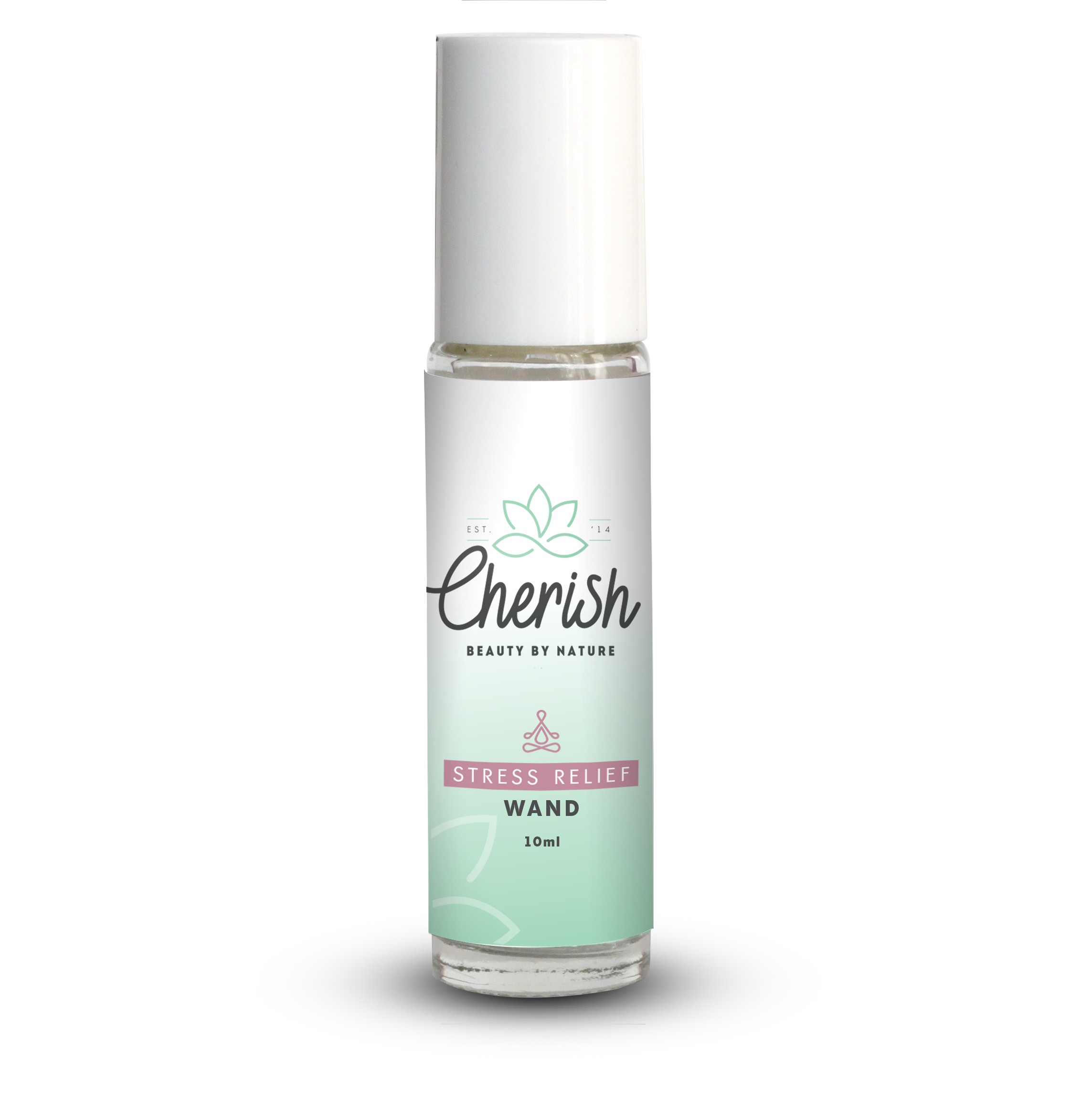Cherish beauty stress relief pre-diluted aromatherapy roller ball wand 10ml glass